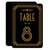 Art Deco Black Wedding Table Numbers