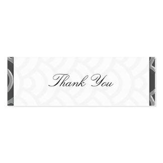 Art Deco Black, White, Silver Wedding Invites Business Card Template