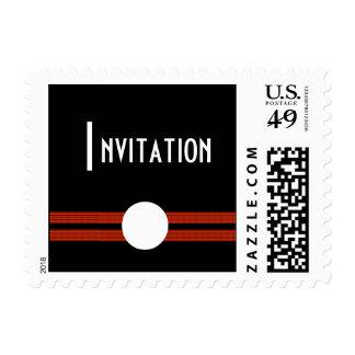 Art déco blanco y negro por invitación sellos postales
