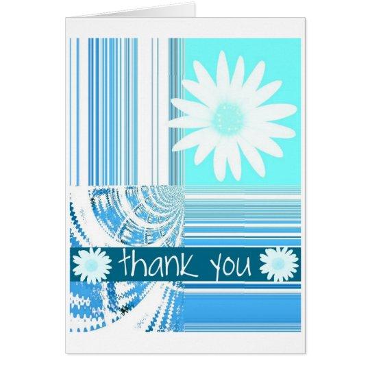 Art Deco Blue Daisies Card