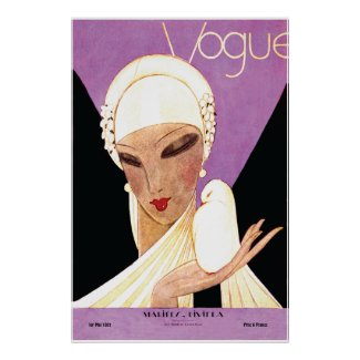 Art Deco ~ Blushing Bride French Vogue Cover