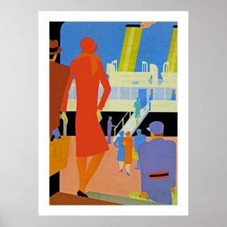 Art Deco Boarding Poster