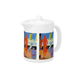 Art Deco Boarding Teapot