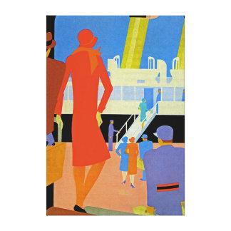 Art Deco Boarding - XL Canvas Print