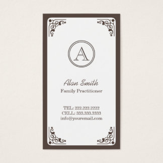 Art Deco Border Family Practitioner Business Card