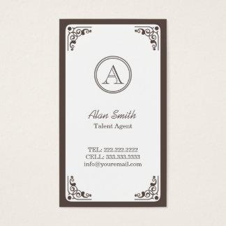 Art Deco Border Talent Agent Business Card