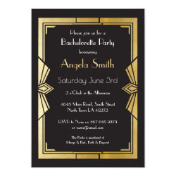 Art Deco Bridal Shower Bachelorette Party Gatsby Invitation