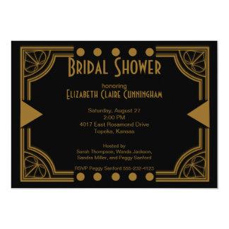 Art Deco Bridal Shower Invitation