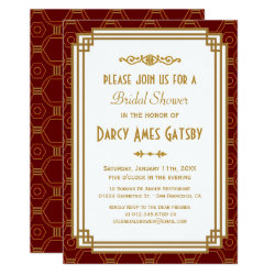 1920s bridal shower invitations retro invites art deco bridal shower invitations filmwisefo