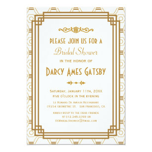 Art deco bridal shower invitations announcements zazzle art deco bridal shower invitations filmwisefo