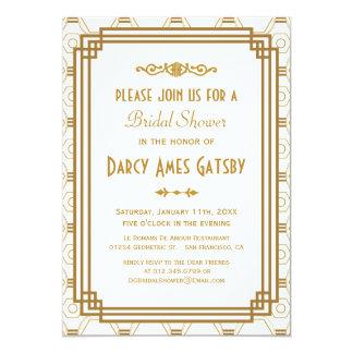Art Deco Bridal Shower Invitations