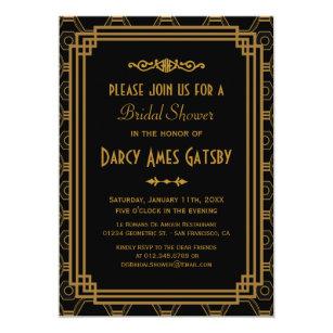 Art deco bridal shower invitations announcements zazzle art deco bridal shower invitations filmwisefo Gallery