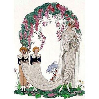 Art Deco Bride invitation