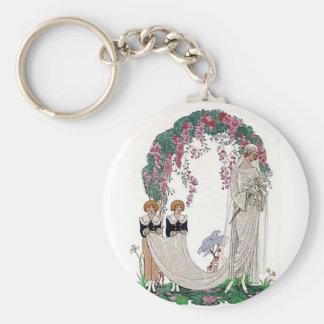 Art Deco Bride Keychain