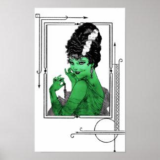 Art Deco Bride Poster