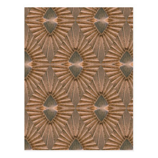 Art Deco Bronze Diamond Pattern Postcard