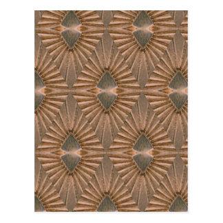 Art Deco Bronze Diamond Pattern Postcard