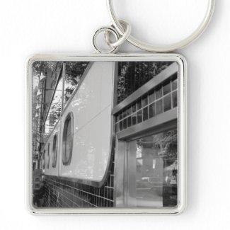 Art Deco Building Exterior Keychain keychain