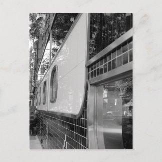 Art Deco Building Exterior Postcard postcard