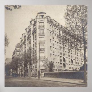 Art Deco building in Paris, 1930s Poster