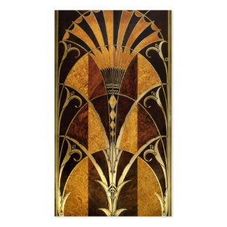 Art Deco Burl Wood Business Card