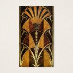 Art Deco Burl Wood Business Card at Zazzle