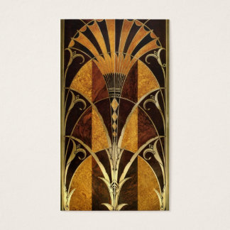 Art Deco Burl Wood Business Card