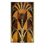 Art Deco Burl Wood Business Card Template