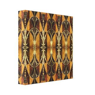 Art Deco Burl Wood Stretched Canvas Print
