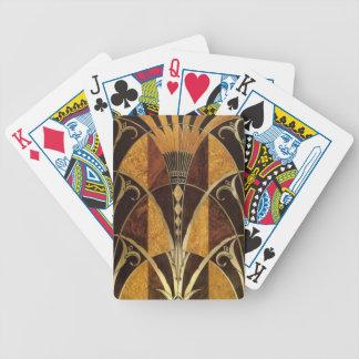 Art Deco Burl Wood Card Decks