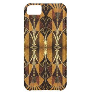 Art Deco Burl Wood Case For iPhone 5C