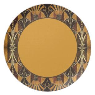 Art Deco Burl Wood Dinner Plate  sc 1 st  Zazzle & Burl Plates | Zazzle