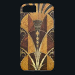 "Art Deco Burl Wood iPhone 8/7 Case<br><div class=""desc"">This is a stunningly beautiful art deco design featuring burl wood and brass trim.</div>"