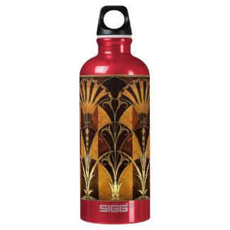 Art Deco Burl Wood Water Bottle