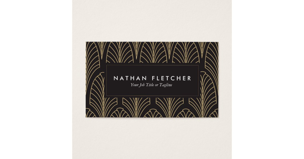 Art Deco Business Cards | Zazzle.com
