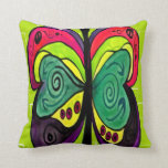 ART DECO BUTTERFLY BY AES THROW PILLOW