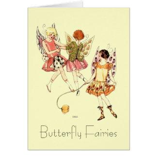 Art Deco Butterfly Fairies Card