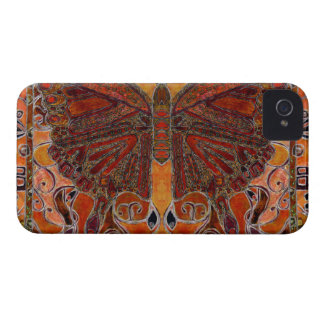 art deco butterfly - iPhone 4 Barely There iPhone 4 Case-Mate Cases