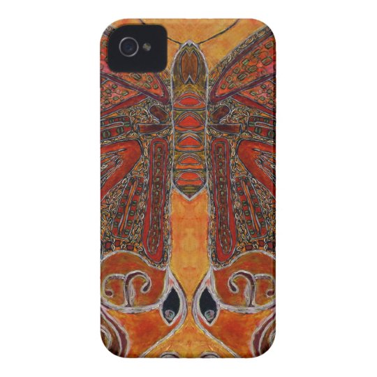 art deco butterfly - iPhone 4 Barely There iPhone 4 Cover