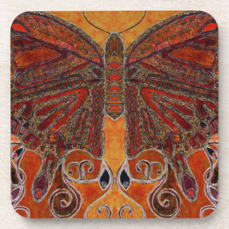 art deco butterfly (painting) coaster set