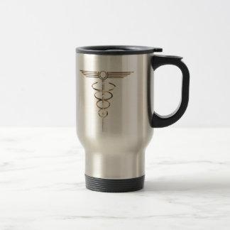 Art Deco Caduceus Travel Mug