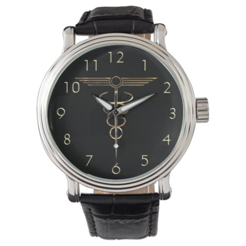 Art Deco Caduceus Wrist Watch