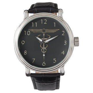 Art Deco Caduceus Wristwatches