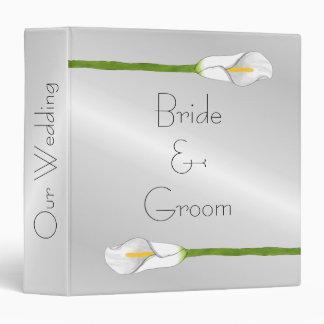 Art Deco Calla Lily Wedding Album Binder