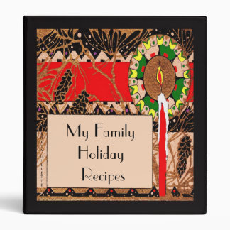 Art Deco Candle and Pinecone Recipe Binder