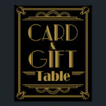 "Art Deco Card and gift table wedding signs<br><div class=""desc"">wedding sign card and gift print</div>"