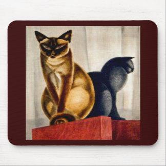 Art Deco Cats Mouse Pads