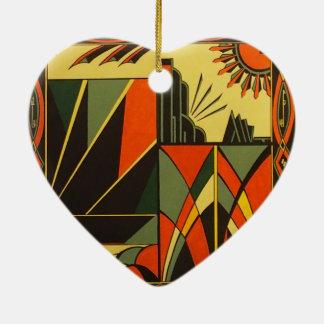 Art Deco ceramic heart hanging decoration Ceramic Ornament
