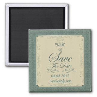 Art Deco champagne Emerald Green Wedding Magnet