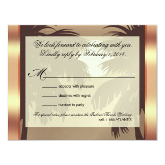 Art Deco Champagne ICE Metallic Faux Vellum RSVP Card